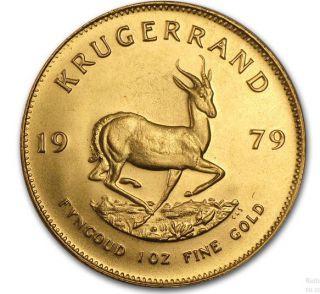 1979 1 oz Afrique Sud - Krugerrand - Or Fin