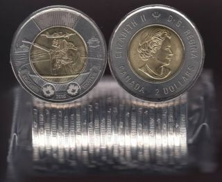2016 Canada $2 Dollars - Battle of the Atlantic - BU ROLL 25 Coins - UNC