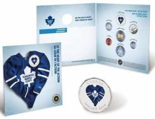 2008 2009 Toronto Maple Leafs Coin set - $1 Dollar Coloured