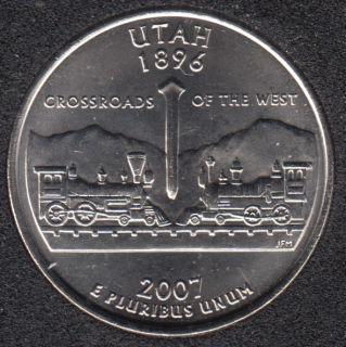 2007 D - B.Unc - Utah - 25 Cents