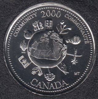 2000 - #912 NBU - Communauté - Canada 25 Cents