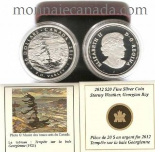 2012 - $20 - Fine Silver Coin - Varley, Stormy Weather - Mintage: 7,000