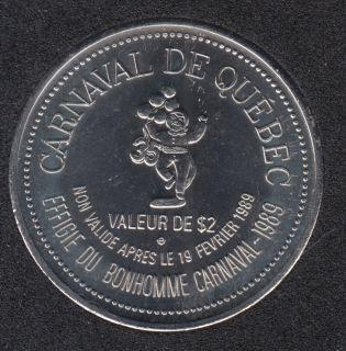 1989 Carnival of Quebec - Trade Dollar