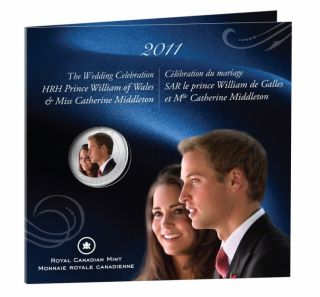 2011 - 25 Cents - Wedding H.R.H. Prince William  Wales and Miss Catherine Middleton - Coloured Coin