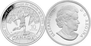 2014 - $10 - 1/2 oz. Fine Silver Coin - FIFA