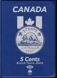 5¢ Canada Uni-Safe Album 1 Cents (Five Cents) Blank