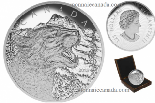 2015 - $125 - 1/2 Kilogram Fine Silver Coin - Growling Cougar