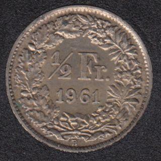 1961 B - 1/2 Franc - AU - Switzerland