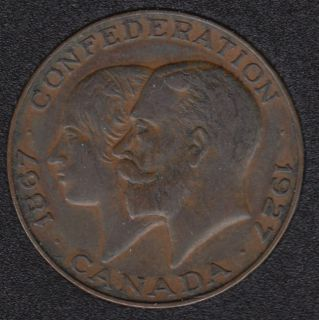 1927 - 1867 - Confederation -  King George and his Queen, Mary of Teck (a German princess) - Medaillion
