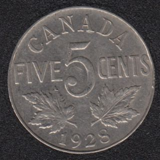 1928 - VF - Canada 5 Cents