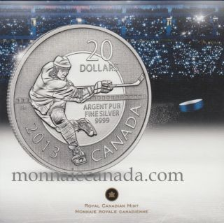 2013 - $20 for $20 hockey Fine Silver Canada