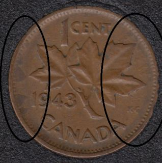 1943 - Xtra Metal - Canada Cent