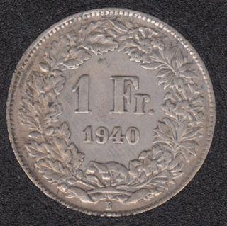 1940 B - 1 Franc - Suisse