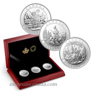 2015 - 3 Coin Set - $5 - Fine Silver – Artwork by Cornelius Krieghoff