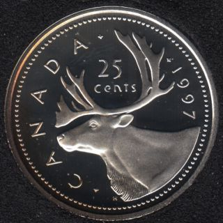 1997 - Proof - Silver - Canada 25 Cents