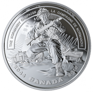 2019 - $20 - 1 oz. Pure Silver Coin - Second World War: Battlefront Series: The Normandy Campaign