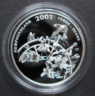 2001 Canada 50 Cents Sterling Silver - Newfoundland and Labrador Folk Festival