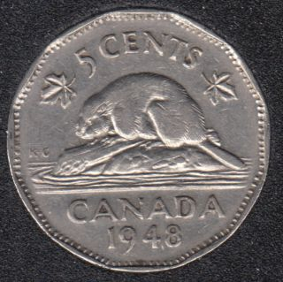 1948 - Canada 5 Cents