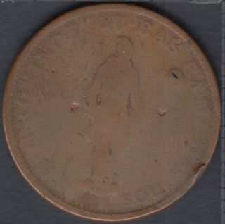 L.C. 1837 Bank du Peuple - Half Penny Token - Nettoyé - LC-8C1