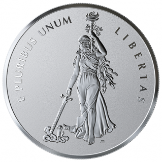 "2019 - 99.99% Pure Silver One-Kilogram Medal - Canadian ""Peace And Liberty"" Medal"