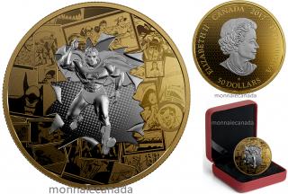 2017 - $50 - 3 oz. Reverse Gold-Plated Pure Silver Coin - DC Comics Originals: All Star Comics