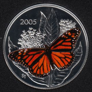 2005 - Proof - Monarch Butterfly - Sterling Silver - Canada 50 Cents