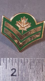 #124 Canadian Military Rank Stripes pin Master Corporal