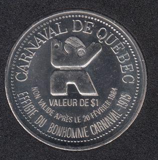 1984 Carnival of Quebec - Trade Dollar