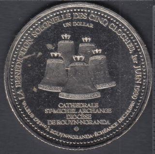 Rouyn / Noranda - 1980 - Bénédiction Solonelle des Cinq Cloches - $1 Dollar de Commerce