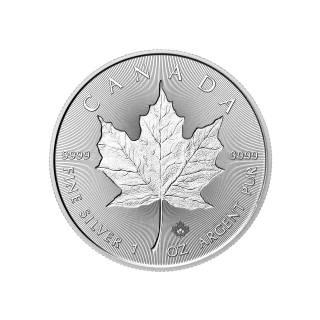 2018 - Double Incuse - Canada $5 - 1oz Fine Silver 9999 - Silver Maple Leaf
