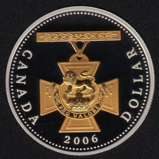 2006 - Proof - Argent Fin - Plaqué Or - Canada Dollar