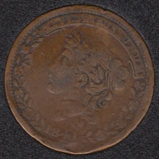 1841 1837 - Bentonian Currency - Hard Time Token