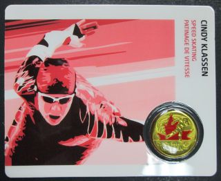 2009 - 25 Cents Vancouver 2010 - Cindy Klassen - Coin Sport Card