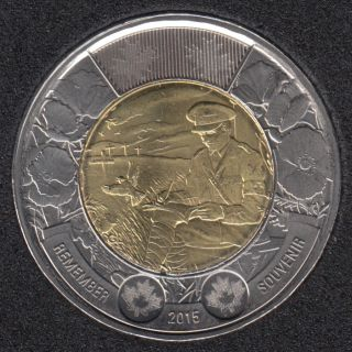 2015 - B.Unc - In Flanders Field- Canada 2 Dollars