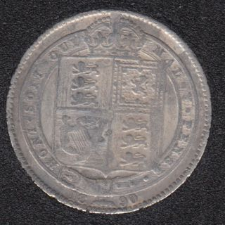 1890 - Shilling - Great Britain