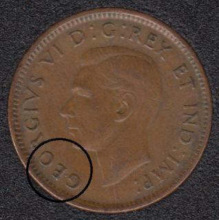 1945 - Double GEO - Canada Cent