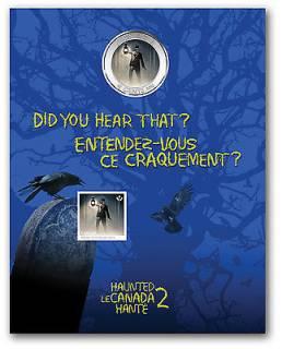 2015 - 25¢ - Haunted Canada: Brakeman + Stamps