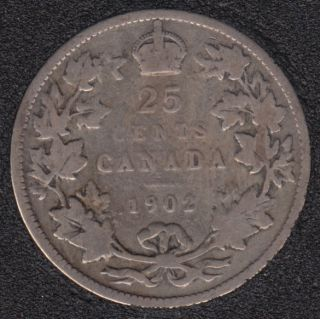 1902 - Canada 25 Cents