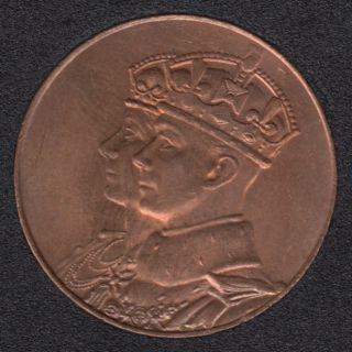 1939 - B.Unc - Royal Visit - Small Medal