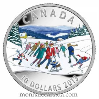 2013 - $10 Fine Silver Coin - Winter Scene