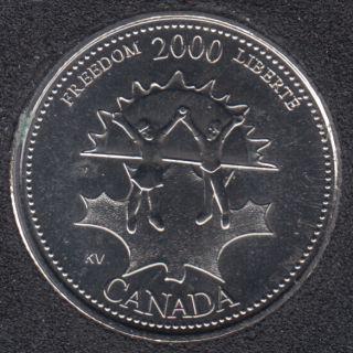 2000 - #911 NBU - Liberté - Canada 25 Cents