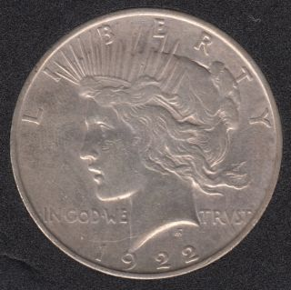 1922 D - Peace - Dollar
