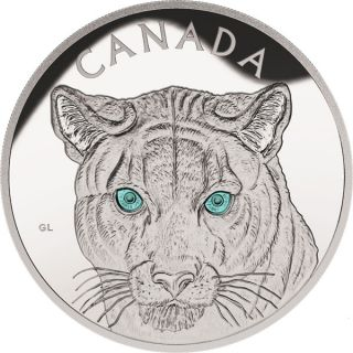 2015 - $250 - Fine Silver One-Kilogram Coin In the Eyes of the Cougar