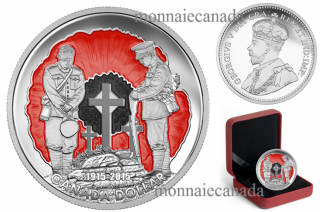 2015 - $1.00 - Limited Edition Proof Silver Dollar – 100th Anniversary of In Flanders Fields