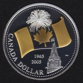 2005 - Proof - Argent Fin - Plaqué Or - Canada Dollar