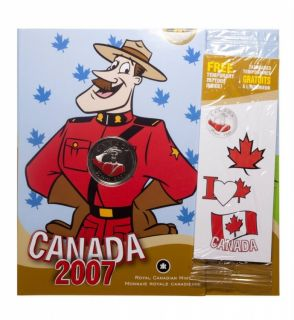 2007 Canada Day 25 Cents Coloured - RCMP