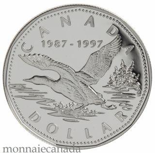 1997 -  $1 Épreuve en Argent Numismatique 10e Anniversaire du Huard Volant