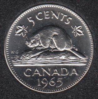 1965 - B.Unc - Canada 5 Cents