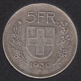 Switzerland - 1939 - 5 Francs - Silver