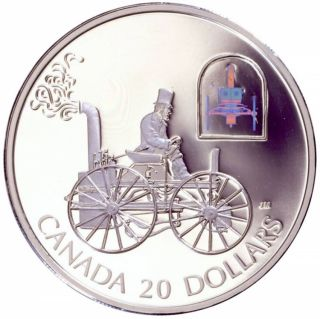2000 - $20 - Transportation Steam Buggy 'HS Taylor' - Proof Silver